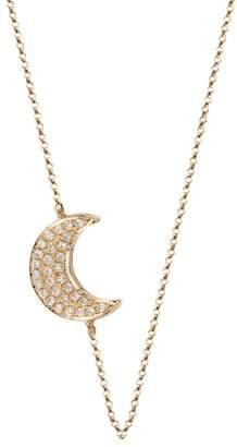 BETTINA JAVAHERI Double Sided Diamond Moon Necklace