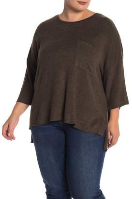 f87fff34d4d166 Philosophy Apparel Heathered Dolman Knit Pullover (Plus Size)