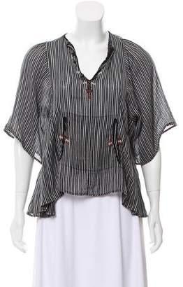 Etoile Isabel Marant Short Sleeve Stripe Blouse
