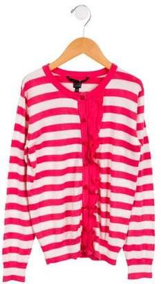 Little Marc Jacobs Girls' Striped Knit Cardigan w/ Tags