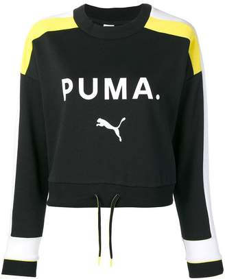 Puma drawstring logo sweatshirt
