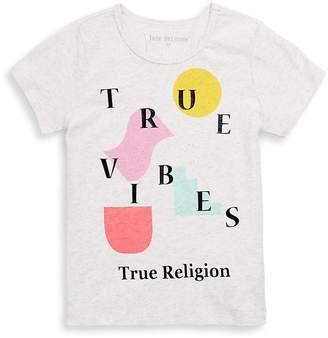 True Religion Girl's True Vibes Cotton Tee