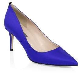 Sarah Jessica Parker Fawn Satin Point Toe Pumps