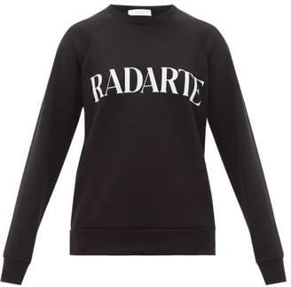 Rodarte Logo Print Cotton Jersey Sweatshirt - Womens - Black White