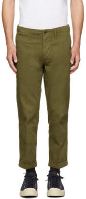 Visvim Khaki High-Water Chino Trousers
