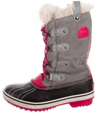 Sorel Girls' Faux-Fur Trimmed Snow Boots