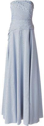 Ralph Lauren striped strapless gown $5,765 thestylecure.com