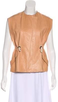 Brunello Cucinelli Zip-Up Leather Vest