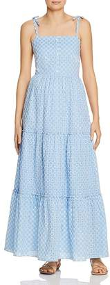 Eliza J Paloma Blue Eyelet-Lace Dress