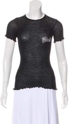 Sonia Rykiel Knit Short Sleeve Top