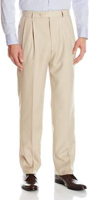 Linea Naturale Men's Pleated Travel Genius Microfiber Trouser