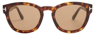 Tom Ford Bryan Square Frame Sunglasses - Mens - Brown