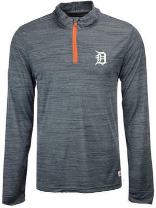 Dynasty Men's Detroit Tigers Poly Twist Mock Quarter-Zip Pullover
