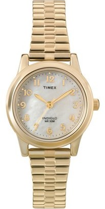 Timex Women's Essex Avenue Watch, Gold-Tone Stainless Steel Expansion Band