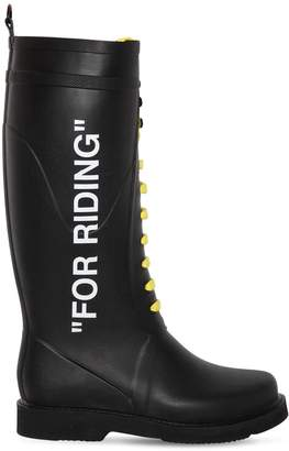 "Off-White 40mm ""For Riding"" Rubber Rain Boots"