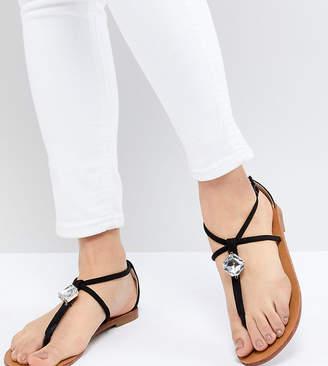 London Rebel Embellished Flat Sandals