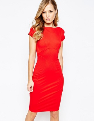 Closet London Closet Pencil Dress with Ruched Cap sleeve $73 thestylecure.com