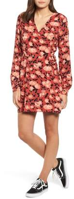 Obey Darcy Floral Wrap Dress