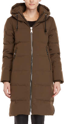 DKNY Quilted Down Long Coat