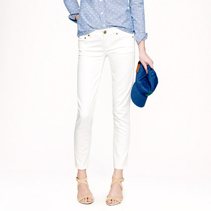 J.Crew Cropped matchstick jean in white