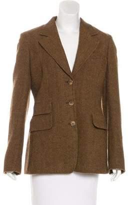 Max Mara Virgin Wool Herringbone Blazer