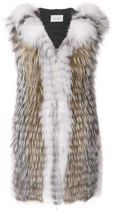 Yves Salomon fox fur Renard vest