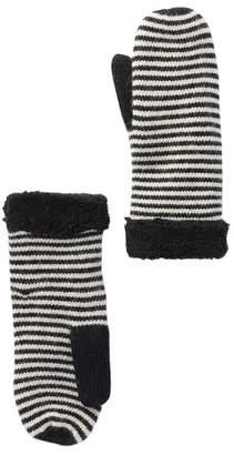 Modena Stripe Knit & Fleece Mittens