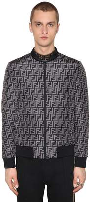 Fendi Reversible Ff Nylon Bomber Jacket