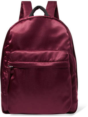 Elizabeth and James Satin Backpack - Burgundy