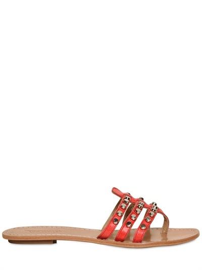 Ioannis 10mm Studded Calfskin Sandals