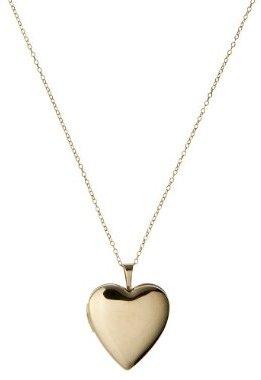 Gold Over Silver 20 Mm Pol Heart Locket Pendant