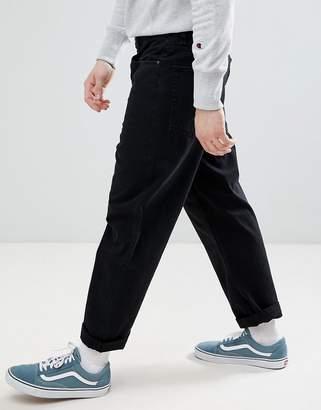 Asos DESIGN skater jeans in black