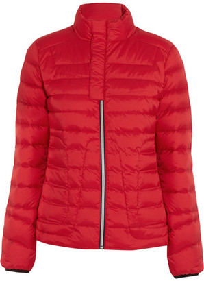 Perfect Moment - Mini Duvet Quilted Down Ski Jacket - Red $450 thestylecure.com