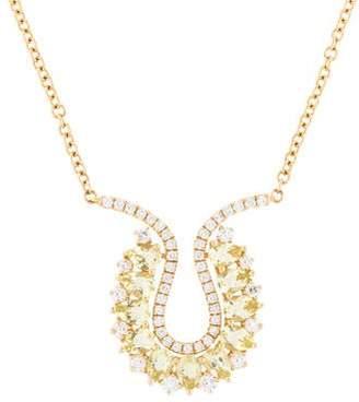 Kiki McDonough 18K Quartz & Diamond Juno Necklace