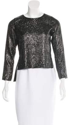 Lovers + Friends Embellished High-Low Blouse