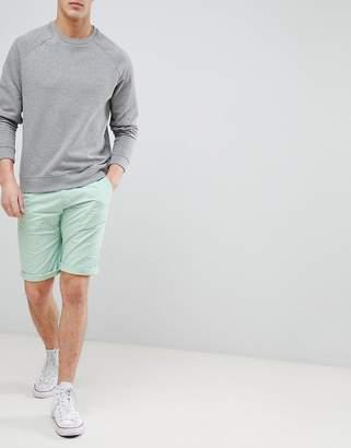 Esprit Slim Fit Chino Shorts In Aqua Green