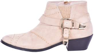 Anine Bing Beige Suede Ankle boots