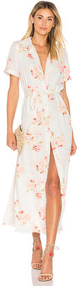 L'Academie The Maxi Shirt Dress in White $218 thestylecure.com