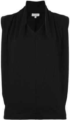 CK Calvin Klein gathered neck sleeveless top