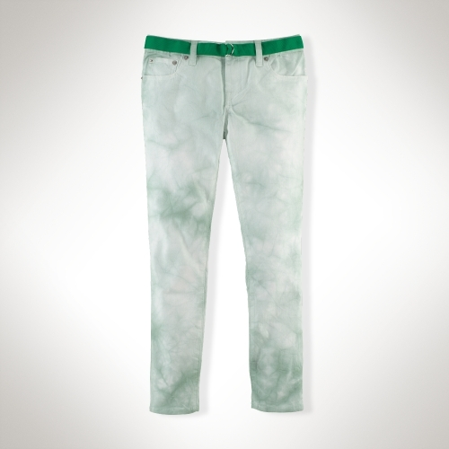 Watercolor Cropped Skinny Jean