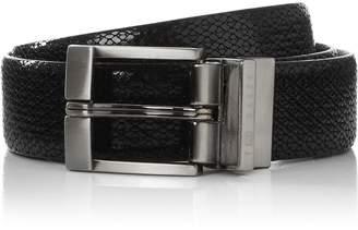 Ted Baker Men's Inka Reversible Leather Belt -Black