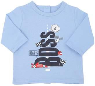 HUGO BOSS Cotton Jersey Long Sleeve T-Shirt