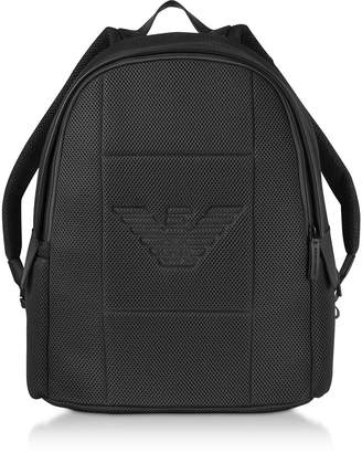 Emporio Armani Two-tone Backpack w/ Side Pockets