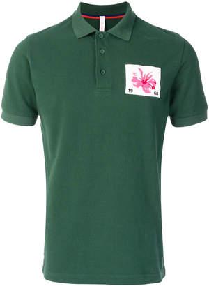 Sun 68 applique patch polo shirt