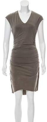 Helmut Lang Ruched Sleeveless Dress