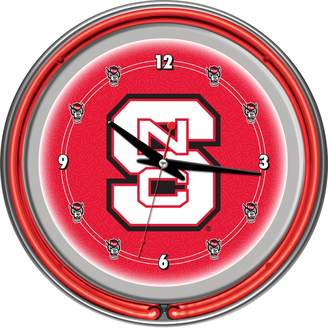 Kohl's North Carolina State Wolfpack Chrome Double-Ring Neon Wall Clock