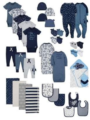 Gerber Organic Cotton Baby Shower Baby Essentials Set, 38-piece (Baby Boys)