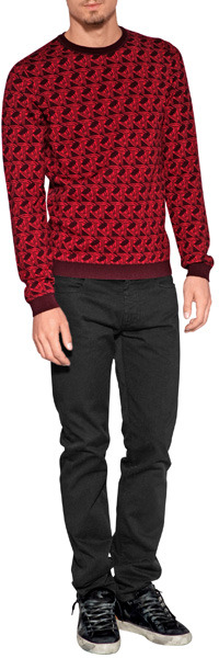 Kenzo Wool Optical Knit Pullover