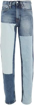 Calvin Klein Jeans High-Rise Straight Leg Jeans