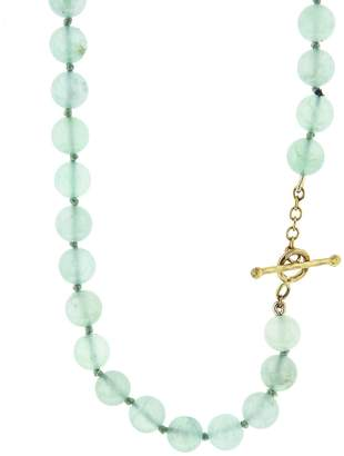 Cathy Waterman Chrysoprase Beaded Necklace